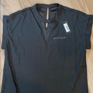 NWT - black Younique blouse